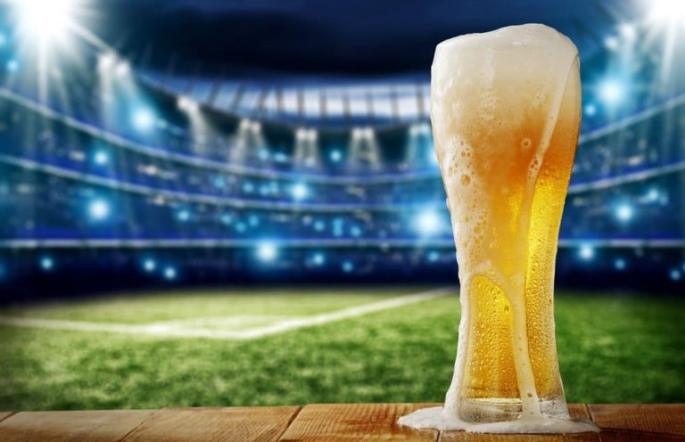 Bier im Fußball