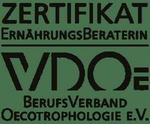 Logo zum Zertifikat 'Ernährungsberaterin VDOE'