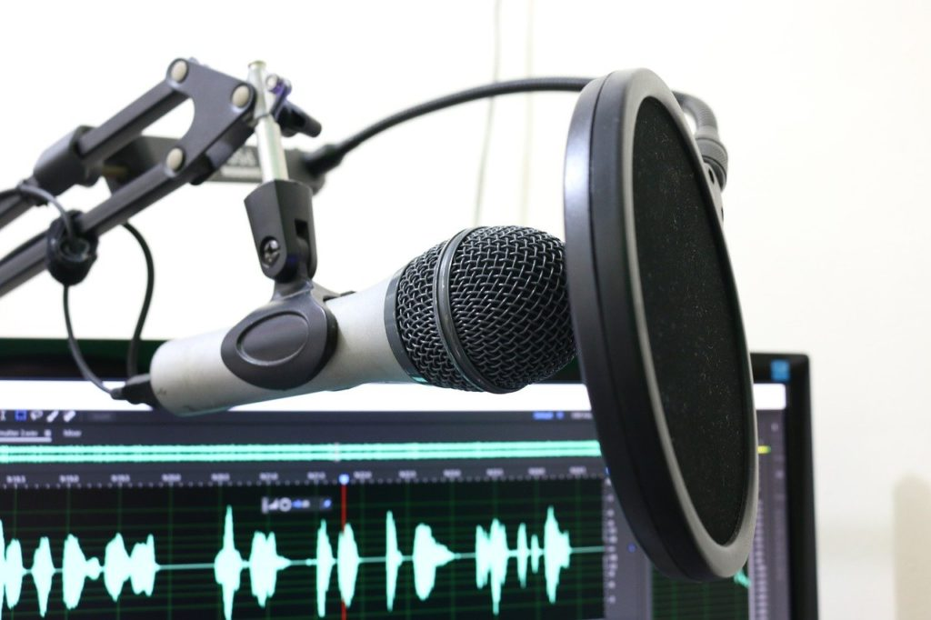 Mikrofon zum Aufnehmen von Podcasts