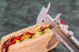 Sandwich mit Kaliper